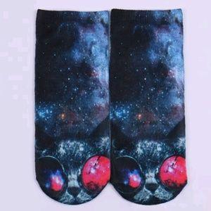 Men's Cat Shades 3D Printed Ankle Socks